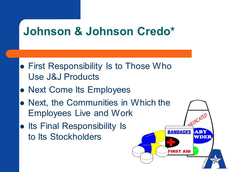 Johnson & Johnson Credo*
