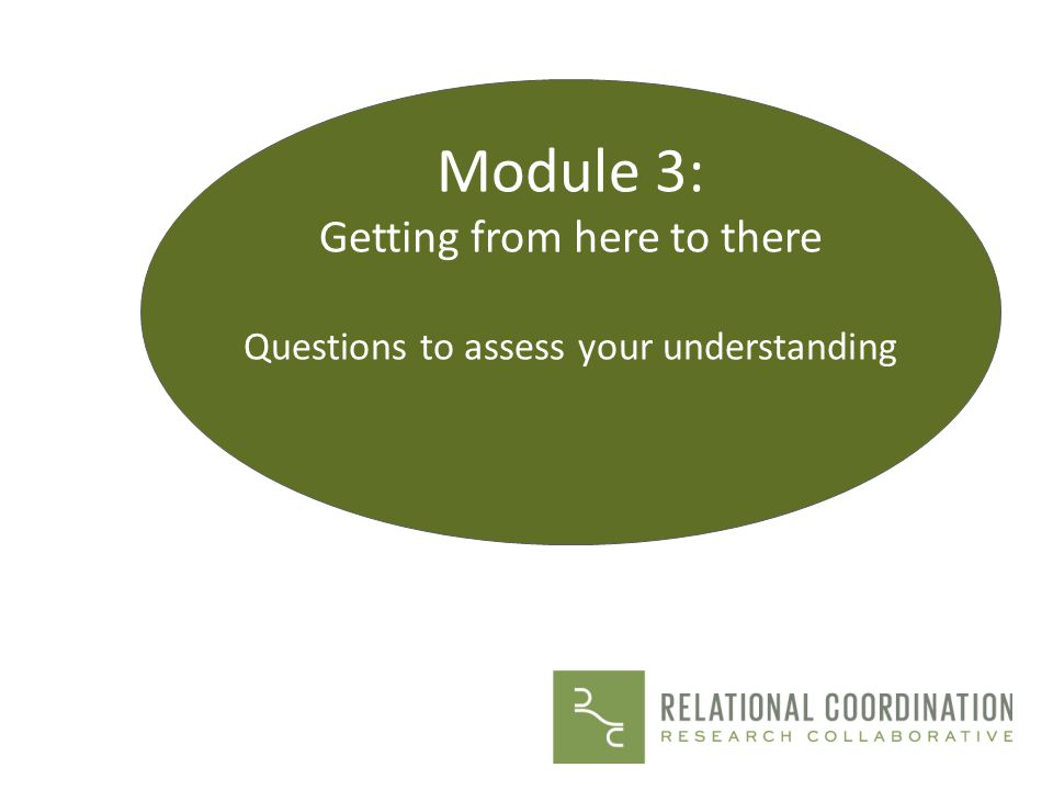 Module 3: Getting from here to there