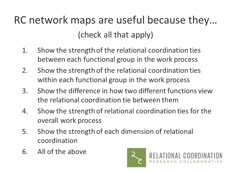 RC network maps are useful because they…