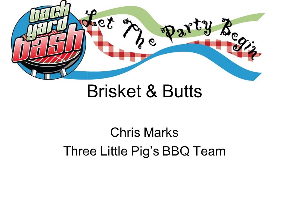 Chris Marks Three Little Pig's BBQ Team