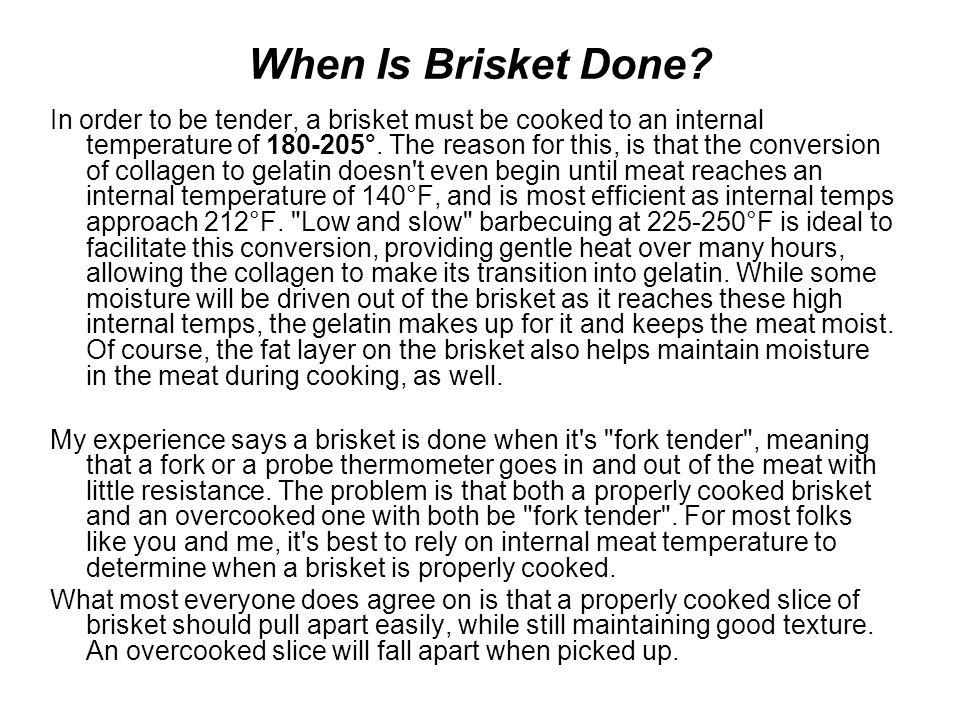 When Is Brisket Done