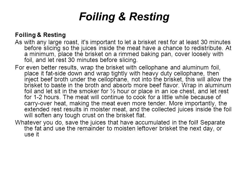 Foiling & Resting Foiling & Resting