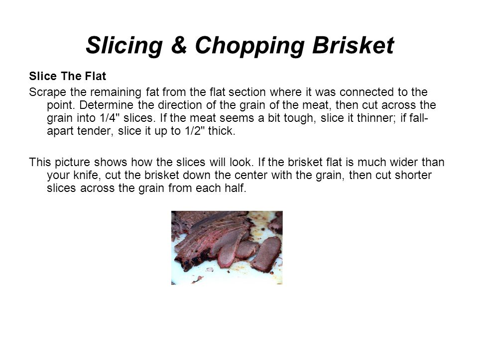 Slicing & Chopping Brisket