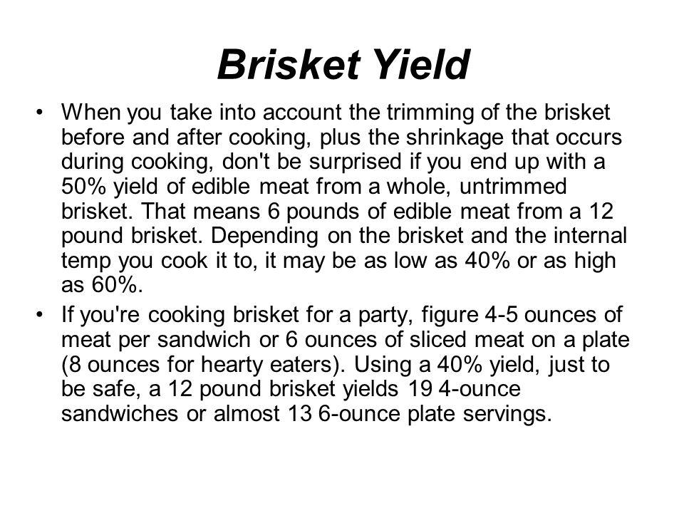 Brisket Yield