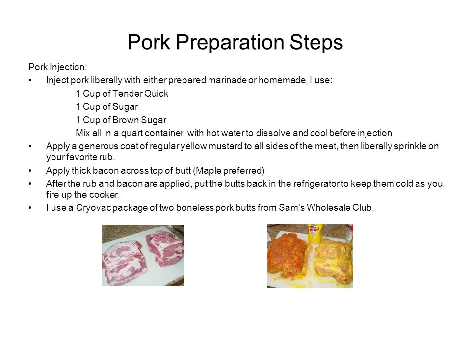Pork Preparation Steps