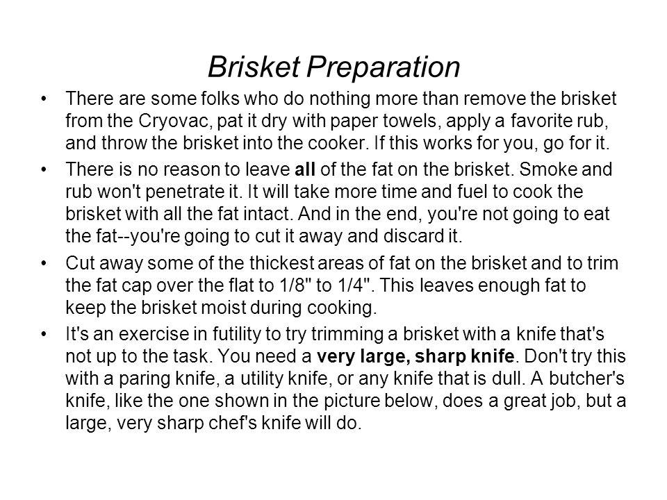 Brisket Preparation