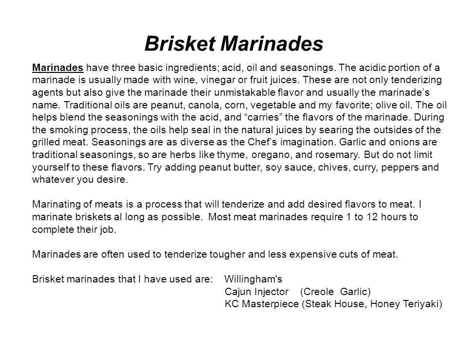 Brisket Marinades