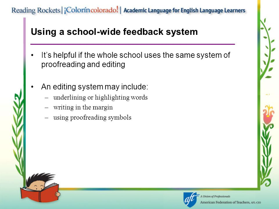 Using a school-wide feedback system