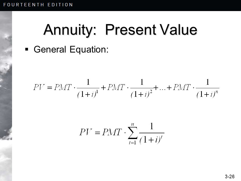 Annuity: Present Value
