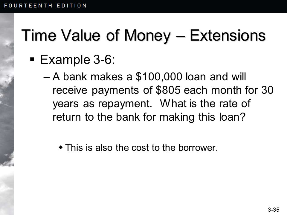 Time Value of Money – Extensions
