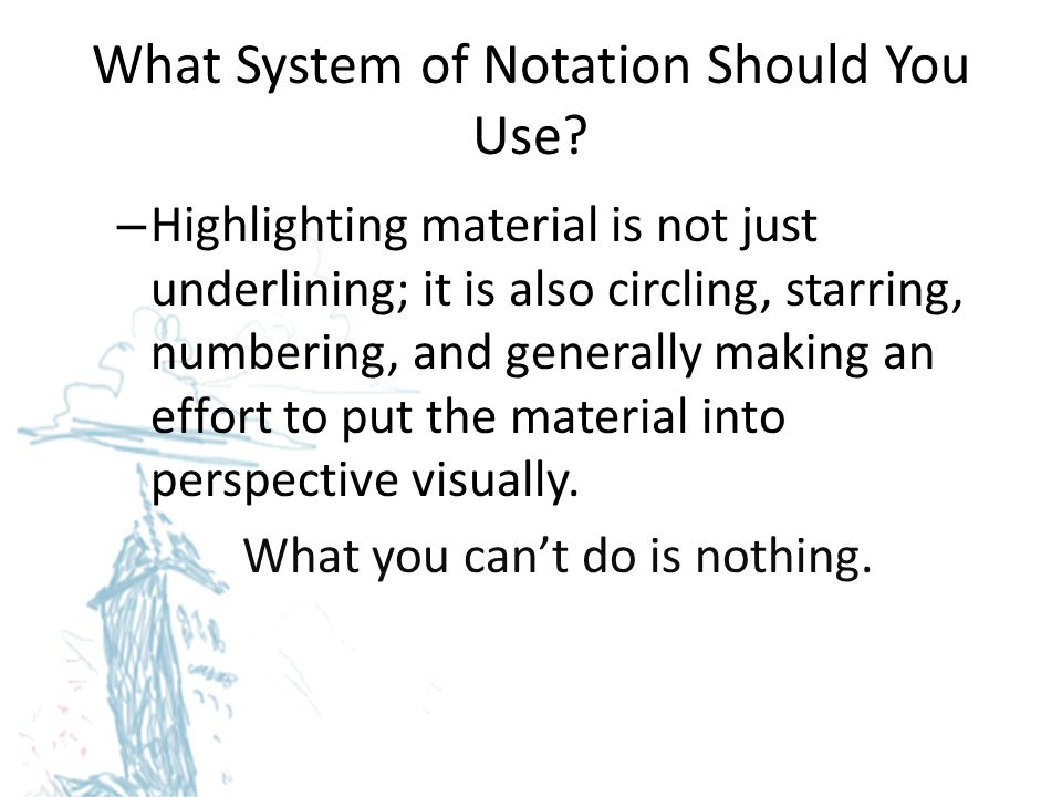 What System of Notation Should You Use