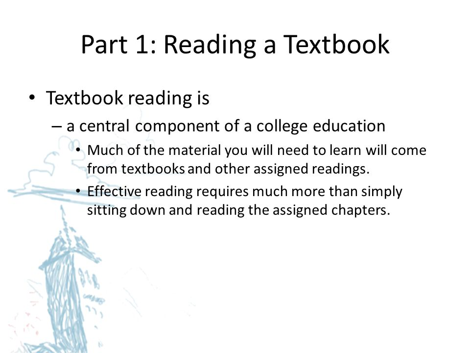 Part 1: Reading a Textbook