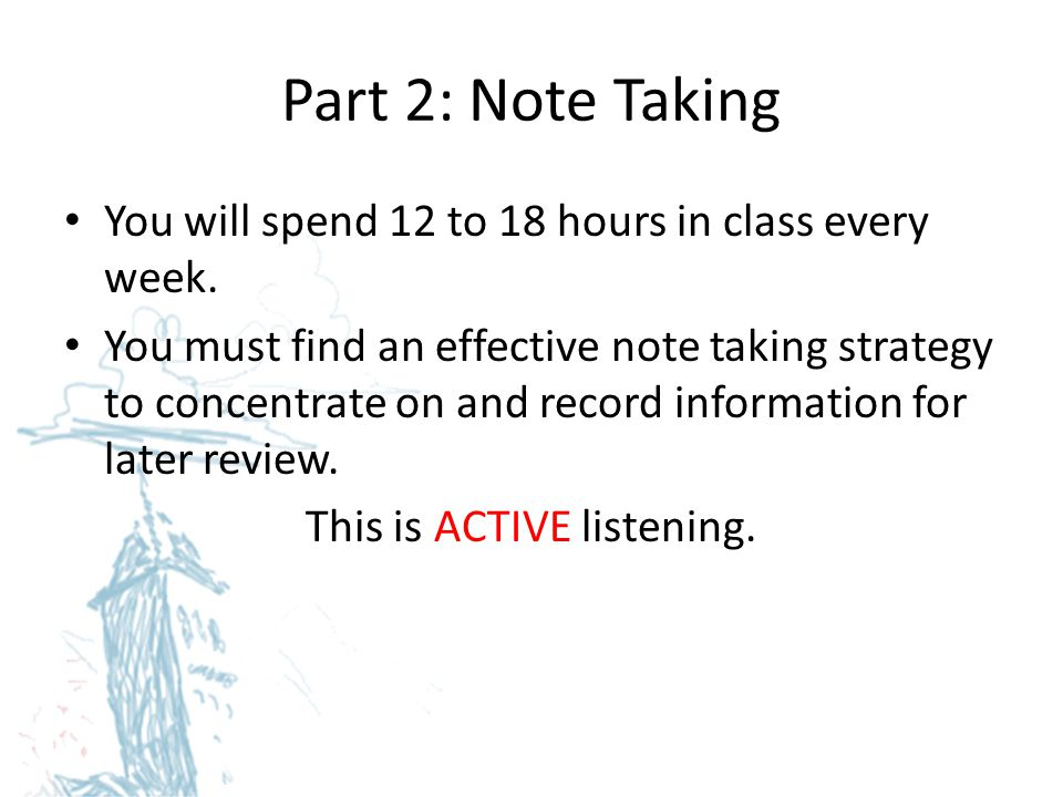 This is ACTIVE listening.