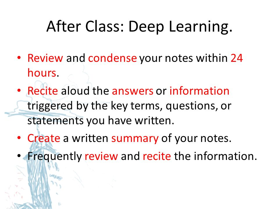 After Class: Deep Learning.