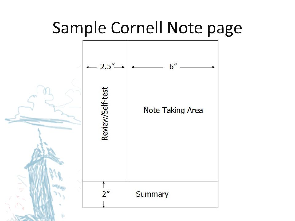 Sample Cornell Note page