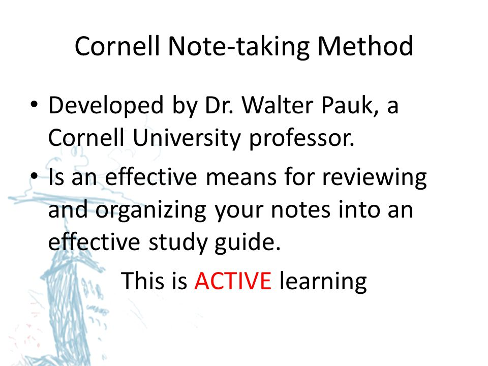 Cornell Note-taking Method