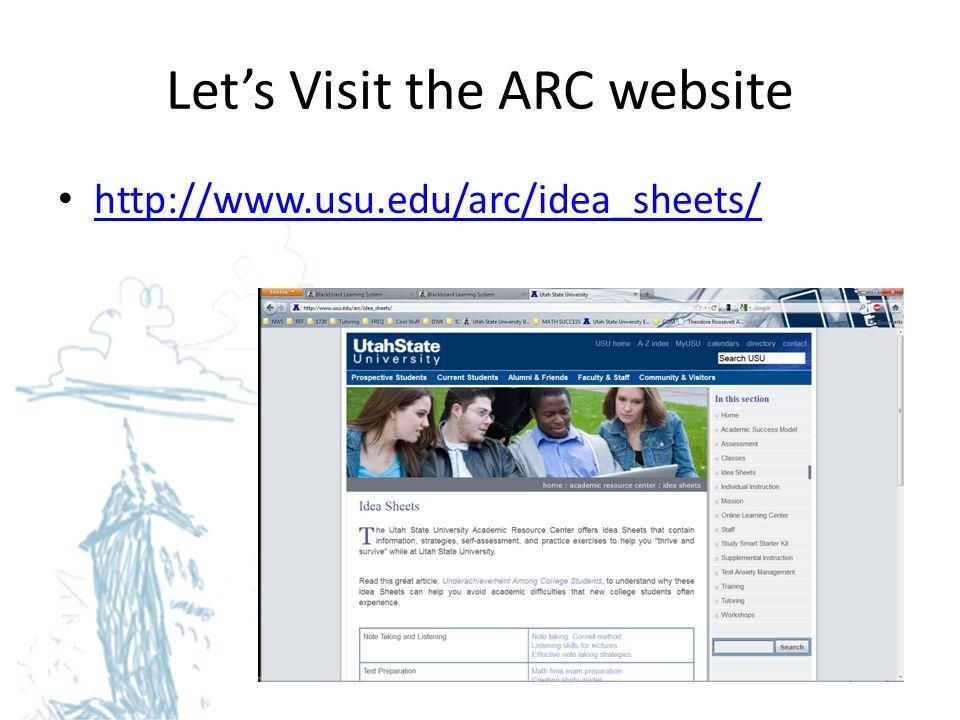 Let's Visit the ARC website