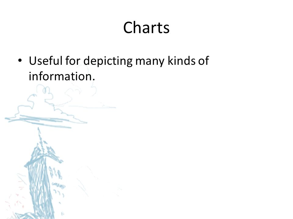 Charts Useful for depicting many kinds of information.