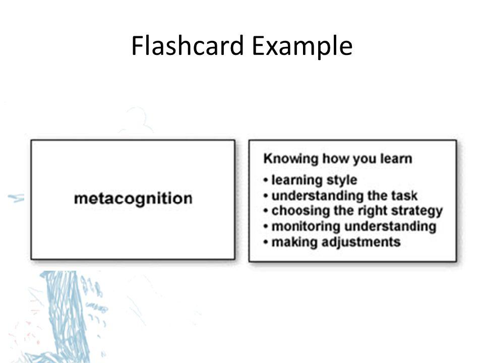 Flashcard Example