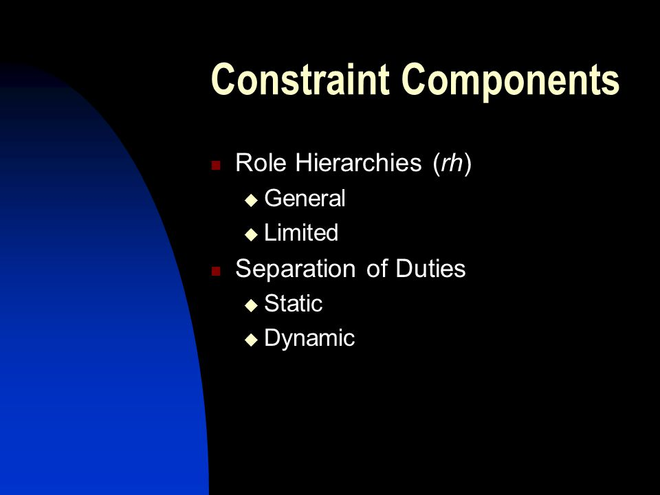 Constraint Components