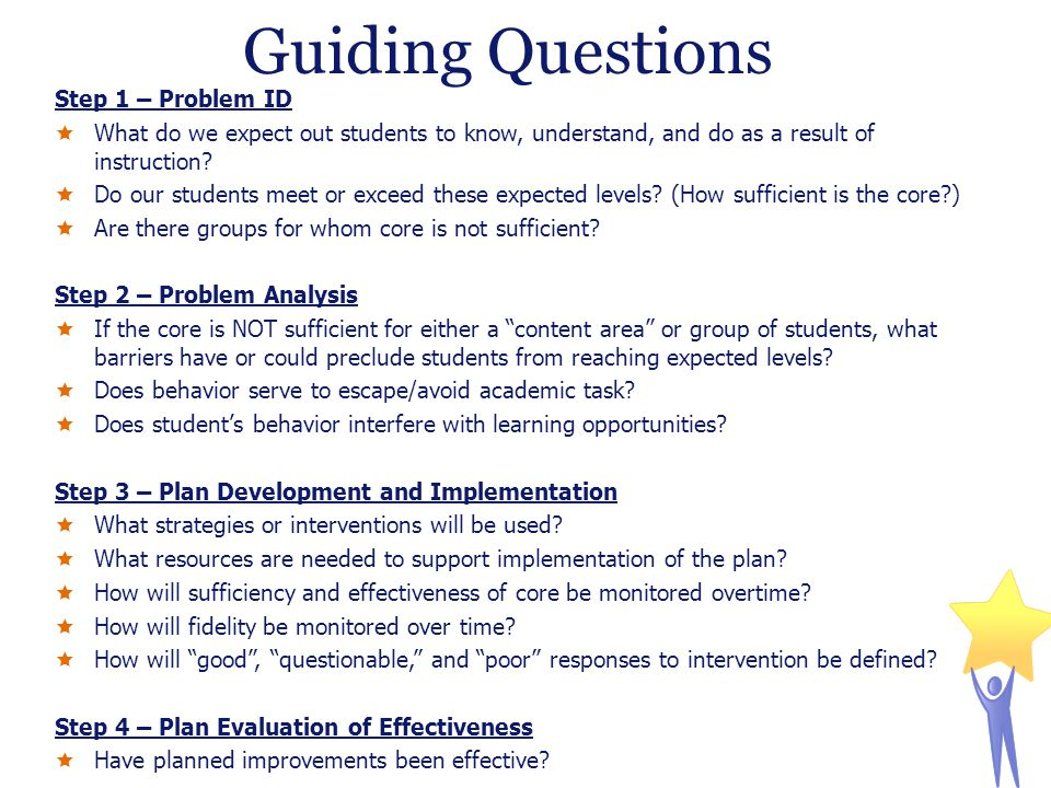 Guiding Questions Step 1 – Problem ID