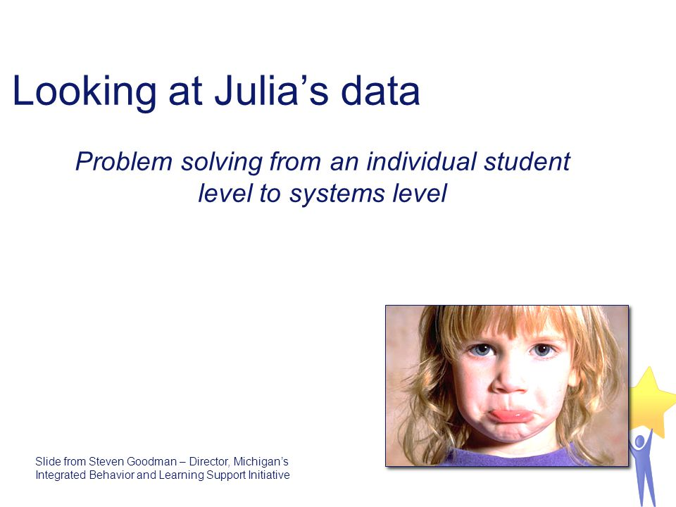 Looking at Julia's data