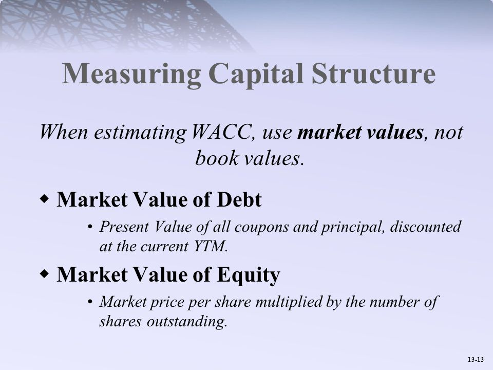 Measuring Capital Structure