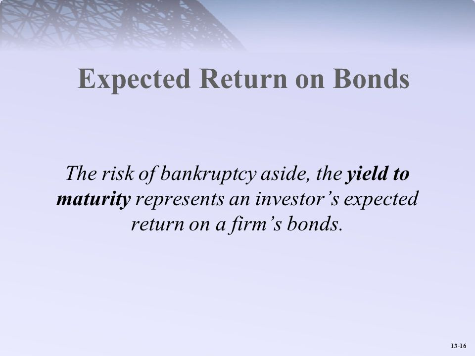 Expected Return on Bonds