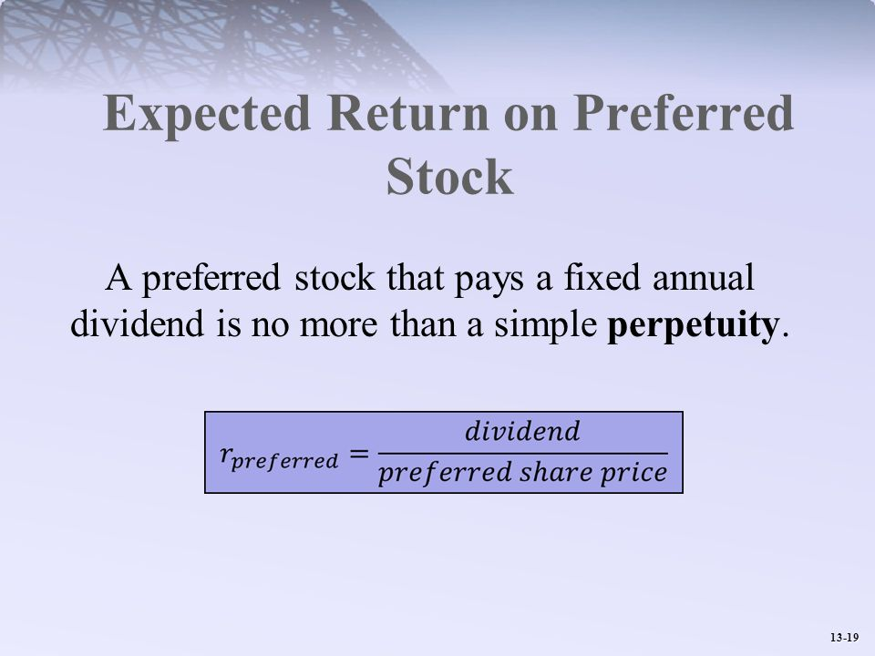 Expected Return on Preferred Stock