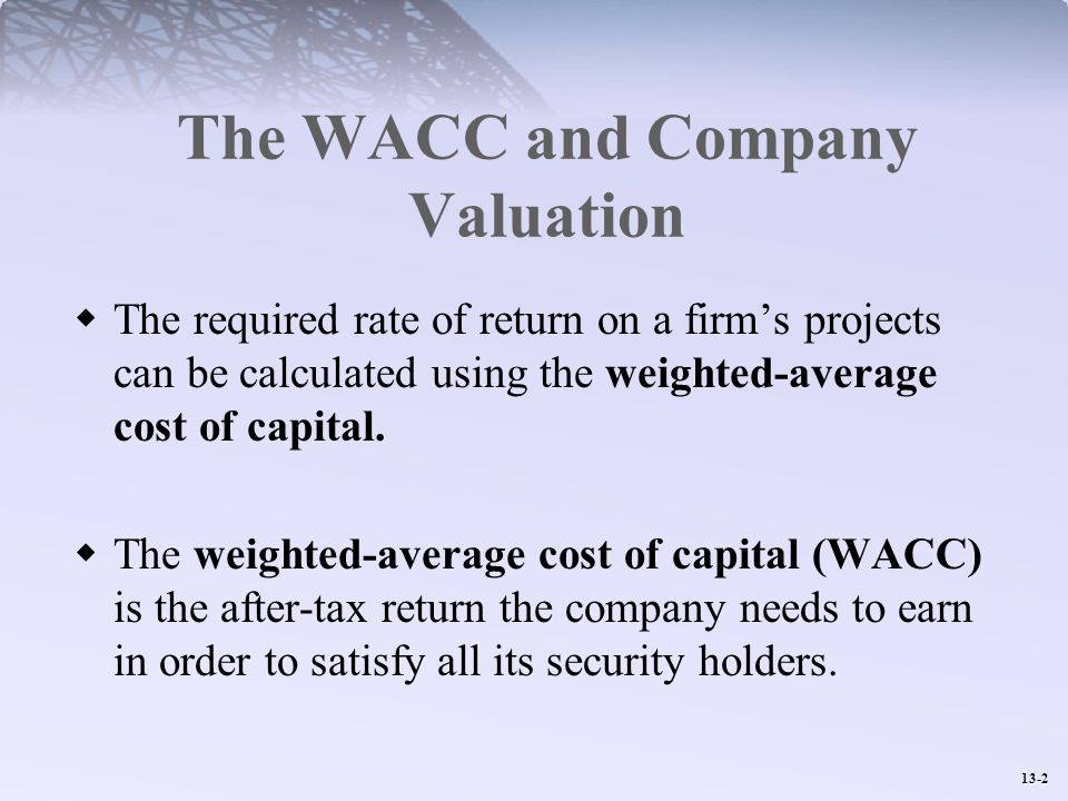 The WACC and Company Valuation