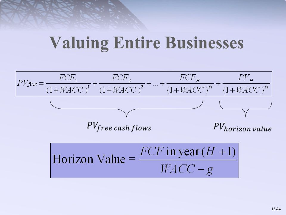 Valuing Entire Businesses