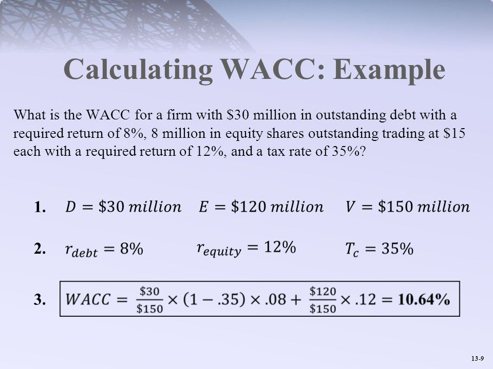 Calculating WACC: Example