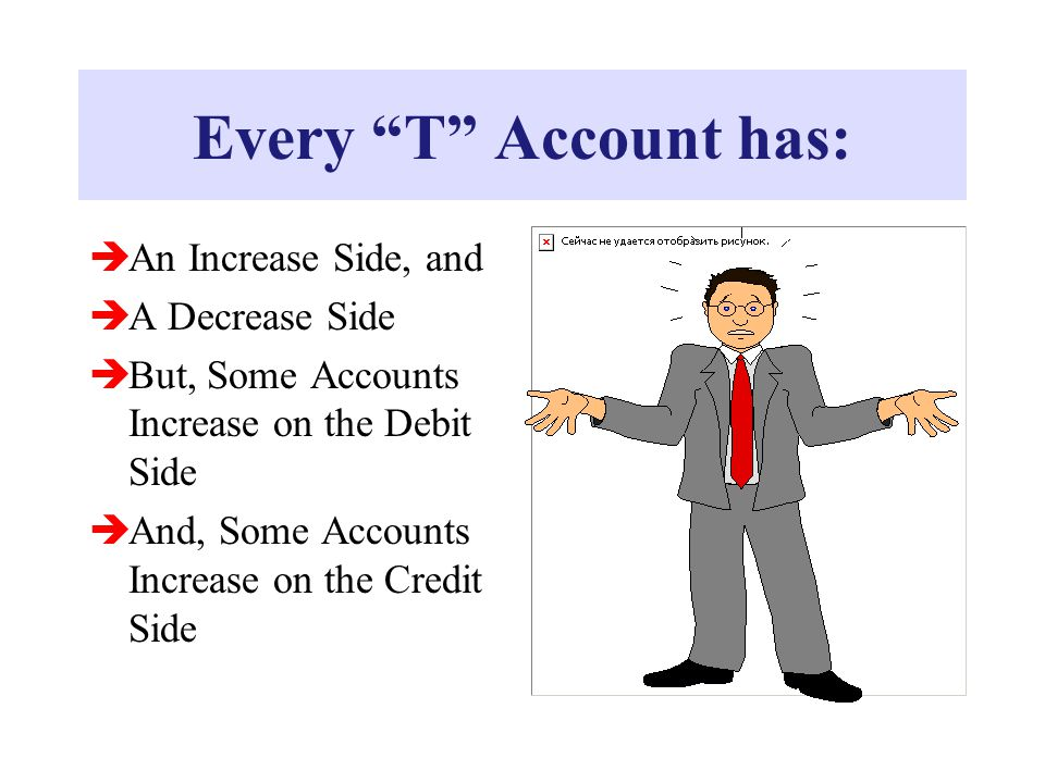 Every T Account has: An Increase Side, and A Decrease Side