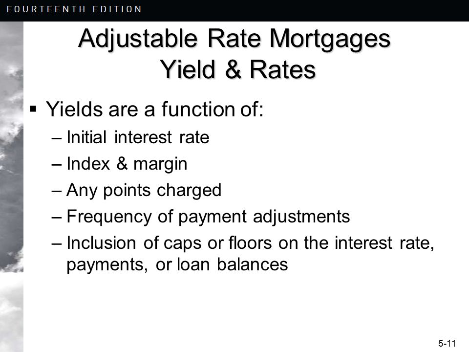 Adjustable Rate Mortgages Yield & Rates