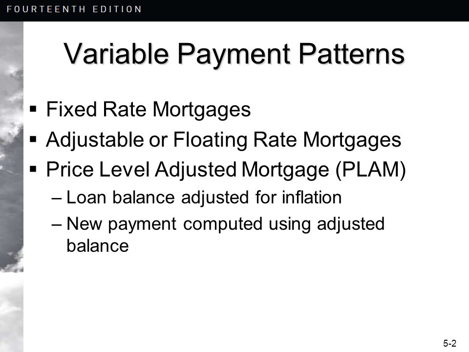 Variable Payment Patterns