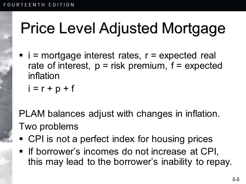 Price Level Adjusted Mortgage