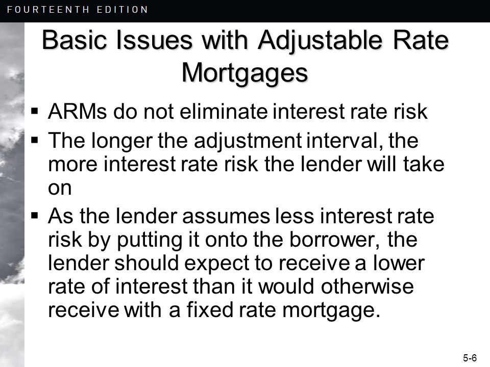 Basic Issues with Adjustable Rate Mortgages