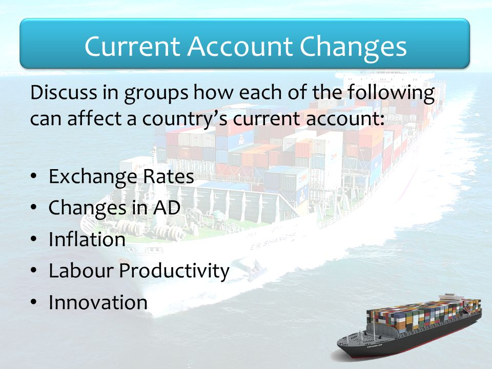 Current Account Changes