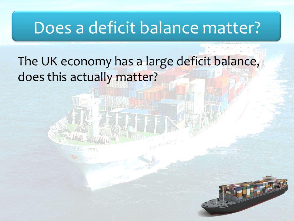 Does a deficit balance matter