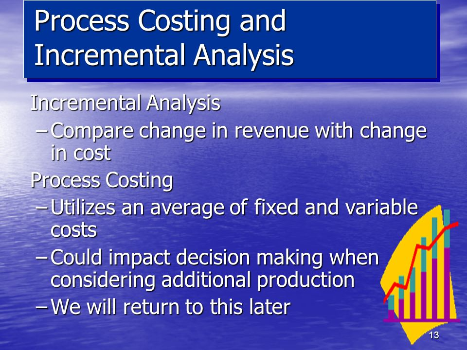 Process Costing and Incremental Analysis
