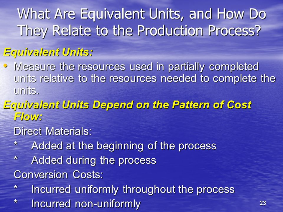 What Are Equivalent Units, and How Do They Relate to the Production Process