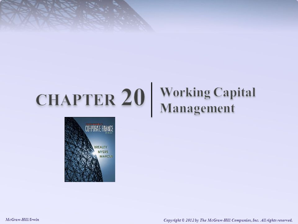 Chapter 20 Learning Objectives