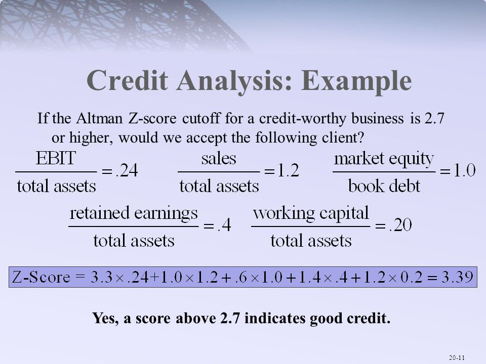 Gallery Of Credit Analysis Template Financial Ratio Statement