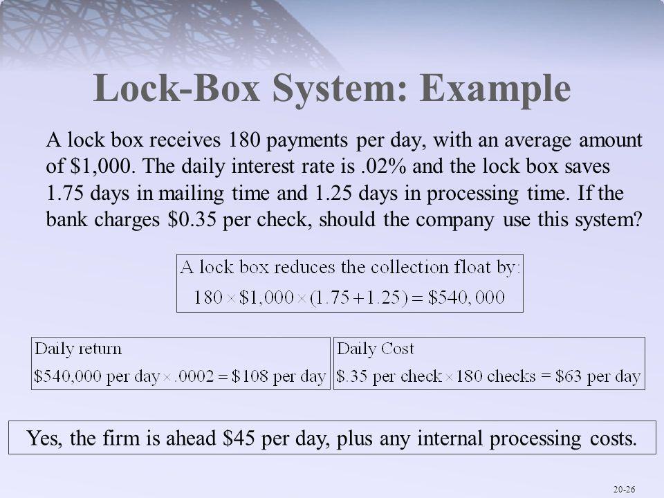 Lock-Box System: Example