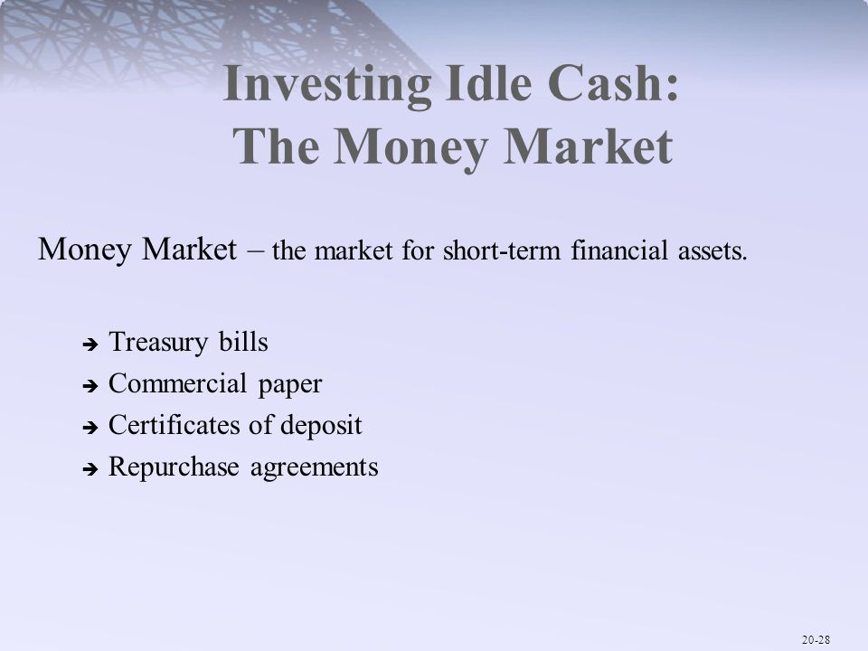 Investing Idle Cash: The Money Market