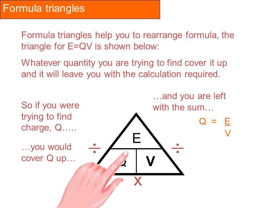   x E Q Formula triangles