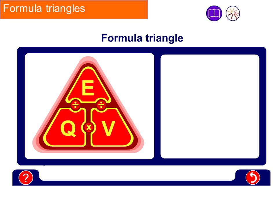 Formula triangles This is a flash movie – click on the letter you want to cover to start the animation.