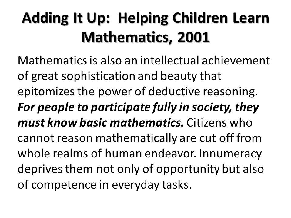 Adding It Up: Helping Children Learn Mathematics, 2001