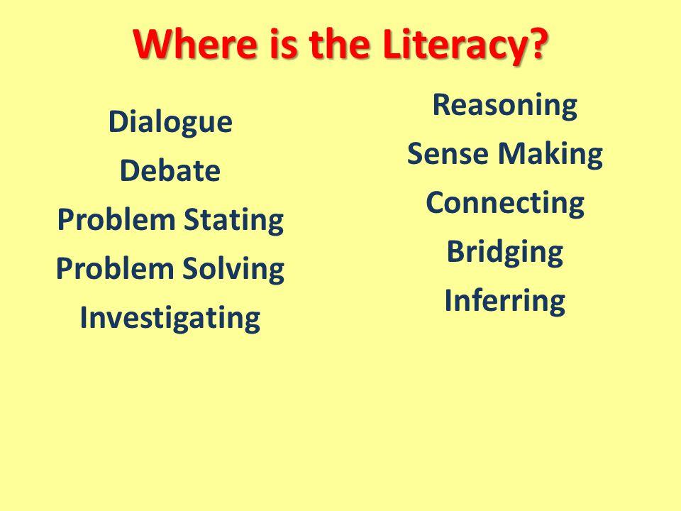 Dialogue Debate Problem Stating Problem Solving Investigating