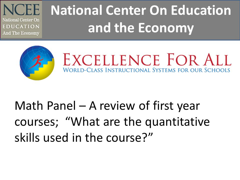 National Center On Education and the Economy